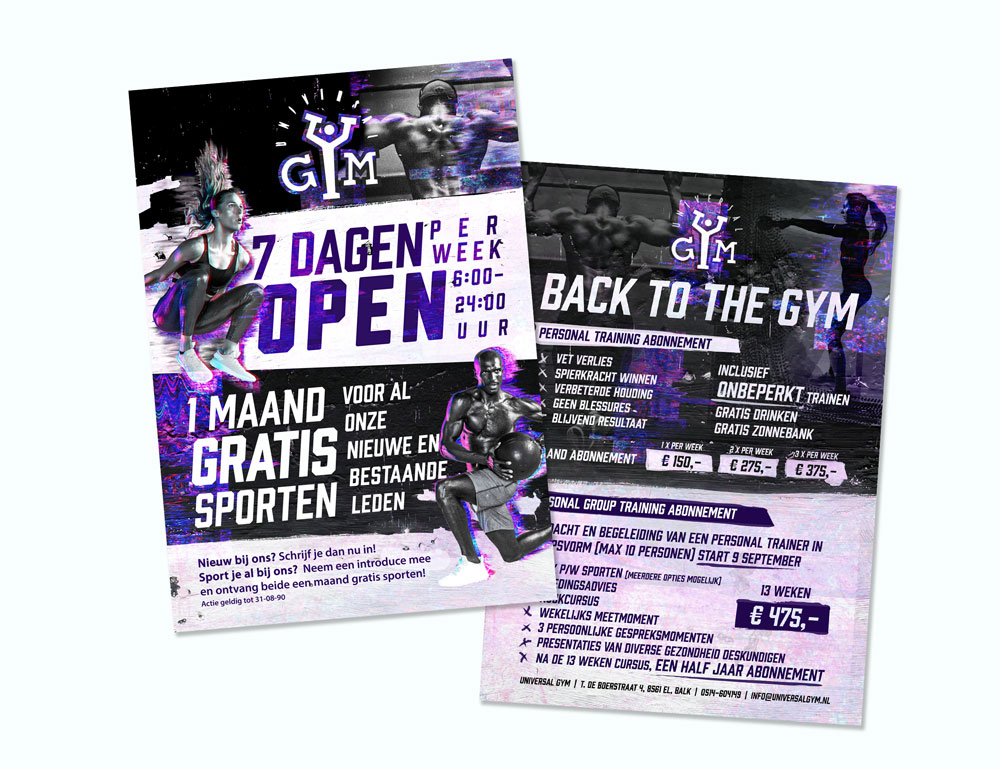 advertentie sportschool